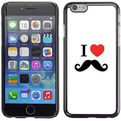 Graphic4You Mustache Schnurrbart Lustig Design Harte Hülle Case Tasche Schutzhülle für Apple iPhone 6 Plus / 6S Plus Design #6