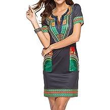 e95881a4d4b Juleya Été Sexy Africain Imprimer Chemises Robes Femme Vintage Mini Hippie  Plus La Taille Boho Femmes