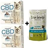 2X Cibapet CBD Pastillen für Katzen und 1x True Hemp Treats Calming Katzensnacks - Sparset
