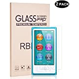 RBEIK Apple Ipod Nano 7th Generation Screen Protector Glass - Premium Tempered Glass 9H Hardness Bubble Free Anti-Scratch Touch Sensitive Screen Protector For Apple Ipod Nano 7th Gen