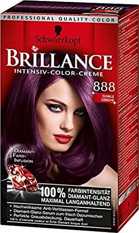 Brillance Intensiv-Color-Creme, 888 Dunkle Kirsche, 5er Pack (5 x 1 Stück)