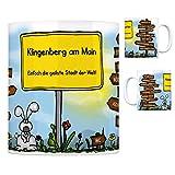 Klingenberg am Main - Einfach die geilste Stadt der Welt Kaffeebecher Tasse Kaffeetasse Becher mug Teetasse Büro Stadt-Tasse Städte-Kaffeetasse Lokalpatriotismus Spruch kw Rodgau Trennfurt Dreieich