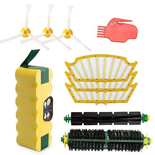 efluky Kit cepillos repuestos de Accesorios para iRobot Roomba Serie 500 505 510 520 521 530 531 532 533 534 535 536 540 545 550 552 560 561 562 563 564 565 570 580 581 587 595 etc.