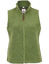 4dead66b67ec Mia san Tracht. Damen Damen Wollweste mit Stehkragen grün, Grün,