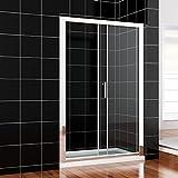 Duschkabine eckeinstieg Schiebetür Duschabtrennung 150x190cm Duschtür Duschwand aus 8mm NANO Glas Vergleich