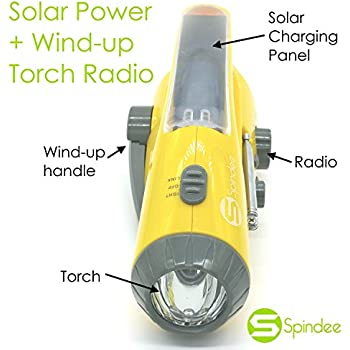 Spindee Hybrid Energy Wind Up Hand Crank Dynamo And
