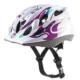 Babimax Kinder Fahrradhelm Sicherheit Schutzhelm 47-53 cm EPS PVC luftdurchlässig Jugend Erwachsene Skifahren Mountainbike (Weiß)