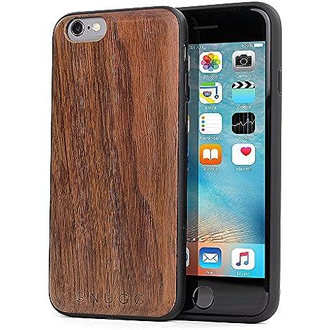 Funda iPhone 6 / 6s, Carcasa Snugg Anti-Impactos para Apple iPhone 6 / 6s [Madera Genuina] Ultrafina Revestimiento de TPU -