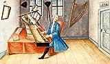 Kunstdruck/Poster: AKG Anonymous Musikanten mit Clavichord u.Querflöte - Hochwertiger Druck, Bild, Kunstposter, 95x55 cm