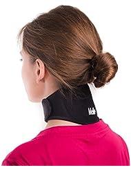 ⭐Faja para aliviar el dolor de cuello por Mello⭐-Chronic con una abrazadera suave para la rigidez del cuello Collar de Soporte Cervical – Imán para la Salud Terapia física para Migrañas, Dolores de cabeza – Viaje cómodamente por aire o en carro.