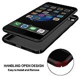 iPhone 7 Hülle, RANVOO Extra Dünn Hard Ultra Slim Case aus Plastik Material Anti-Kratzer Anti-Fingerabdruck Leicht Schale Voller Schutz für iPhone 7 Schwarz, [TOUGH005] - 3