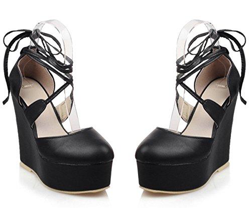 YE , chaussures compensées femme Schwarz