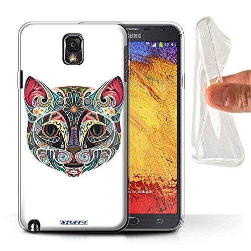 Stuff4® Gel TPU Hülle/Hülle für Samsung Galaxy Note 3 / Katze Muster/Deko-Tiere Kollektion