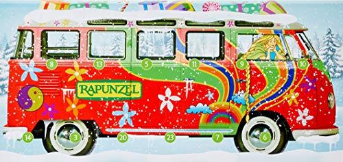 Rapunzel Aktions-Adventskalender Bulli befüllt