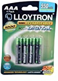 Lloytron 4Pk NIMH AccuDigital Battery - AAA 550mAh