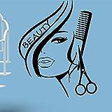SecondStep Decorar El Cuidado Del Cabello Fino Tallado De Salón De Belleza Para Decorar Un Salón De Belleza Showroom 56*72 Cm Creative Pegatinas De Pared Tatuajes De Pared De Moda La Protección Del Medio Ambiente De Decoración Mural Plano Material Decorativo Papel Tapiz