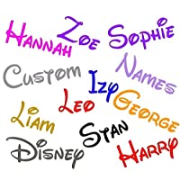 2 x Personalised Disney 130mm long Font Name sticker glass display laptop home car vinyl decal sticker window bumper