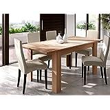 Mesa extensible para comedor o cocina en color nature, 90x140-190cm