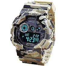 YPS Hombres Pantalla Calendario reloj del deporte camuflaje militar Diseño Digital / Cronógrafo / Reloj WTH2921