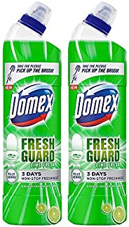 Domex Fresh Guard Lime Fresh Disinfectant Liquid Toilet Cleaner, Colour Changing Formula To Kill Germs And Giv