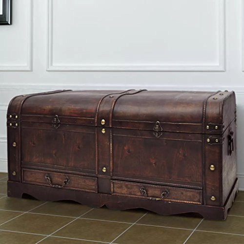 Baúl Cofre Grande Madera marrón Mobiliario Armarios