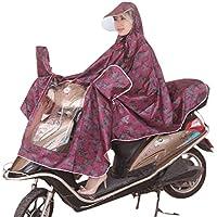 Bici impermeabile da uomo Poncho pioggia mantello Moto da Donna impermeabile giacca impermeabile con catarifrangenti (Leggero Pioggia Poncho)