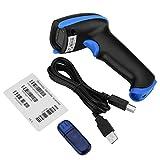 Barcode Scanner, VBESTLIFE Handgehaltener drahtloser Laser-Barcode-Strichcodeleser-Leser 2.4GHz für iOS Android Windows(blau)