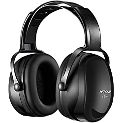 Mpow Casque Antibruit Réglable, Casques Anti-Bruit NRR 29dB/SNR 36dB avec Sac de Transport, Cache-Oreilles à Protection Auditive Réglable de Réduction du Bruit pour Soudage, Chantier - Noir
