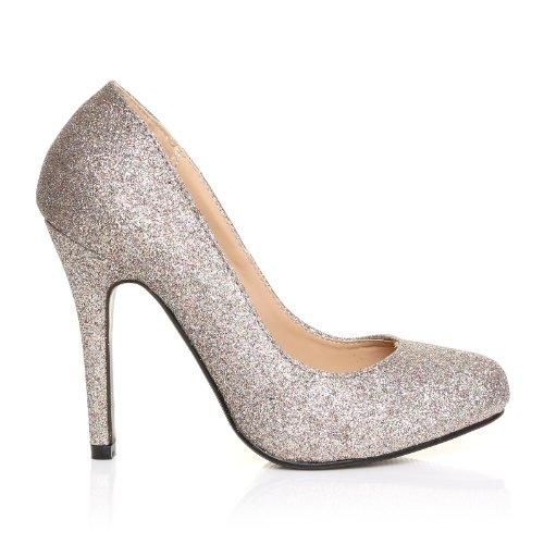 Hillary Uk Shuwish Klassische Schuhe Hohe Mehrfarbiger Glitter Pumps Stilletto Absätze HBq5O1wx