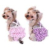 TVMALL Diaper pour petit chien Cosy pour animal domestique Chien Coton Renforcez la Sangle sanitaire physiologique Pantalon pour animal domestique Sous-vêtements couches