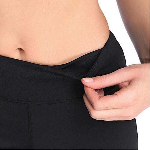 Leggings Fitness Yoga Per Donne Alta Vita Elastico Pantaloni Allenamento Traspirante Black