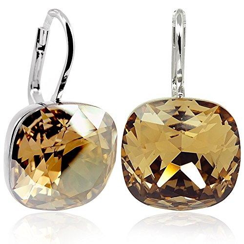Ohrringe mit Kristallen von Swarovski Silber Braun NOBEL SCHMUCK