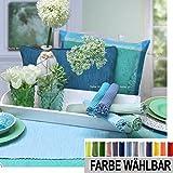 sander Tischläufer BREEZE Baumwolle Rips Melange Größe und Farbe wählbar (50x140cm, 67-aqua)