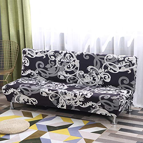 ishine Sofabezug Überwürfe Ohne Armlehnen Schlafsofa mit Stretch Sofahusse Slipcover Sofa Abdeckung in Verschiedene Größe und Farbe-A (G)