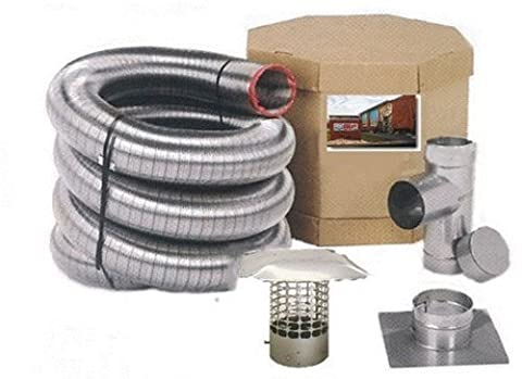 Forever Vent SW825SSK SmoothWall Double Ply Stainless Steel Chimney Liner Kit, 8-Inch x 25-Feet by Forever
