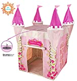 Spielzelt von Kiddus für Kinder, das wie das Schloss einer Prinzessin geformt ist, mit UV-Schutz