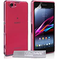 Yousave Accessories Zubehör Hard Case Cover für Sony Xperia Z1Compact–Crystal Clear