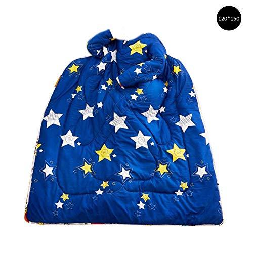 Wovemster Steppdecke Bettdecke Hautfreundliches Baumwollgewebe Bequem und Atmungsaktiv/120 150 cm, Sterne