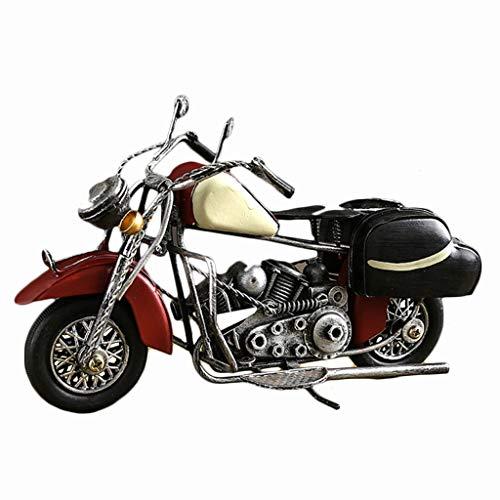 LYN Dekoration Eisen Motorrad Dekoration Kreative Persönlichkeit Hause Wohnzimmer Studie Büro Geschenke Geschenk Dekoration Handwerk (Color : Yellow, Size : 16 * 6.5 * 12CM) -