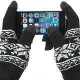 Celly guantes de pantalla táctil para teléfonos inteligentes, tamaño M/L, negro