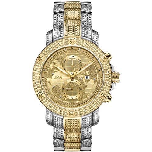 JBW Veyron Reloj de hombre diamante cuarzo suizo 48mm analógico J6360D