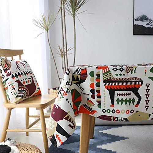 XTUK Home Decor Tischdecke Weihnachtsdeko Baumwolle Cartoon gepolstert Tischmatte rechteckig Couchtischdecke Tischdecke Tischdecke Rund Tischdecke Tischdecke, Farbe, 140 * 230