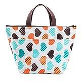 Bolsa de almuerzo-bolsa para el almuerzo bolsa isotérmica bolsa de Lunch bolsa de picnic plegable organizador de viaje color Random