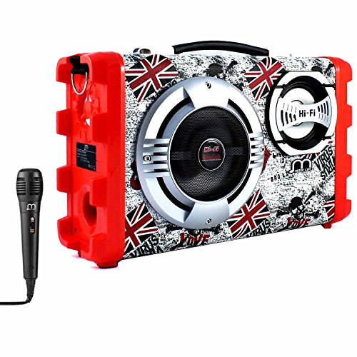 Altavoz Bluetooth Karaoke con Micrófono televisión inteligente youtube Portátil Inalámbrico musica modo...