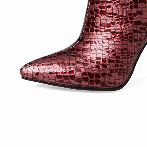 MissSaSa Donna Scarpe col Tacco Alto Piede Elegante e Bella rosso mix