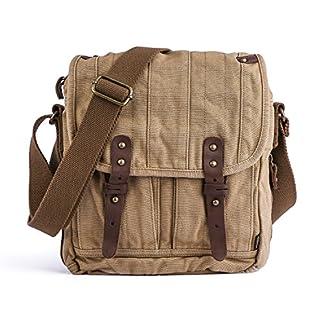 Gootium Vintage Canvas Messenger Bag Men's Shoulder Bag Classic Satchel Bolso Bandolera, 25 cm
