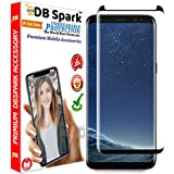[Sponsored]DBSpark Galaxy S8 Screen Protector Glass (Full Screen Coverage) (Full Glue) Premium Case Friendly Tempered Glass Screen Protector For Samsung Galaxy S8 - Dot Matrix, 3D Curved With Easy Installation Kit - 2018