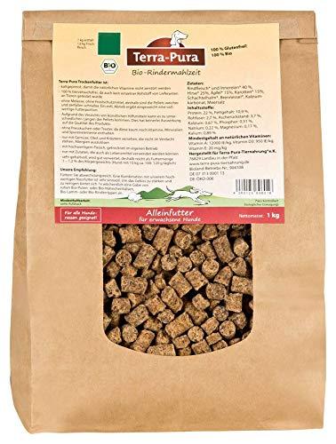 TERRA-PURA Tiernahrung Bio-Rindermahlzeit, Trockenfutter für Hunde, 1 kg