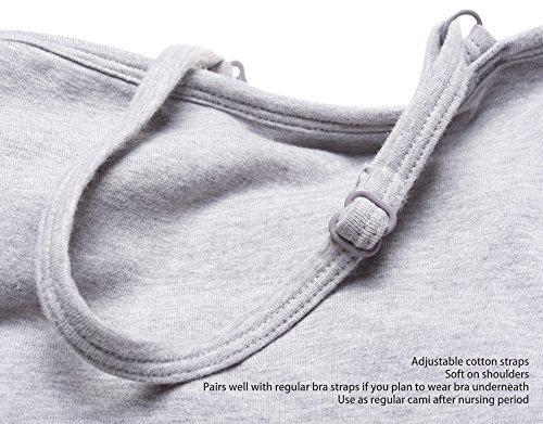Intimate Portal Femme Débardeurs Cami de maternité pour Allaitement en Coton Noir