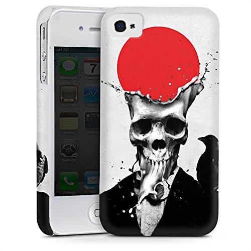 Apple iPhone 5 Housse étui coque protection Crâne Crâne Tête de mort Cas Premium mat
